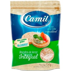 Mini Biscoito Integral de Arroz Camil 150g