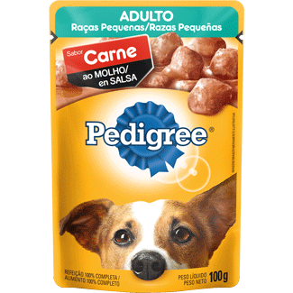 Alimento para Cães sabor Carne ao Molho Sachê Pedigree 100g