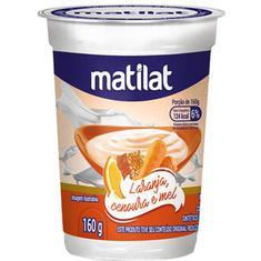 Iogurte de Laranja com Cenoura e Mel Matilat 160g