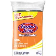Saco de Lixo Rolo Kit Promocional Embalixo 50L 2un
