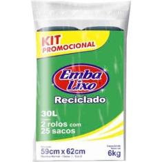Saco de Lixo Rolo Promocional Embalixo 30L 2un