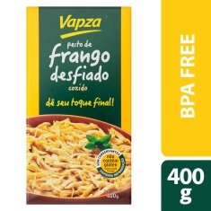 Peito de Frango Cozido Desfiado Vapza 400g