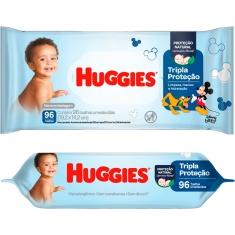 Lenços Umedecidos Disney Baby Tripla Proteção Huggies 96 Unidades