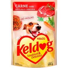 Alimento Úmido para Cães Carne, Ervilha e Cenoura Keldog 100g