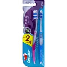 Escova Dental Macia Antibac Cabeça M Condor Leve 2 e Pague 1