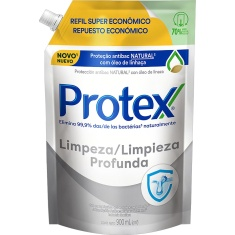 Sabonete Líquido Antibacteriano para as Mãos Limpeza Profunda Protex Refil 900ml