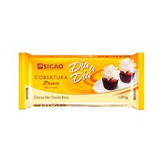 Cobertura de Chocolate Branco Dia a Dia Sicao 1,01kg