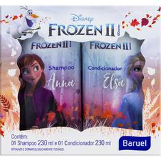 Kit Shampoo + Condicionador Infantil Princesa Frozen Baruel 230ml