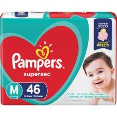 Fralda Pampers Supersec Mega M 46 unidades