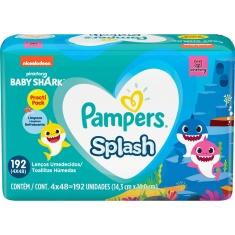 Lenço Umedecido Splash Pampers 192 unidades