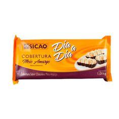 Cobertura de Chocolate Meio Amargo Dia a Dia Sicao 1,01kg