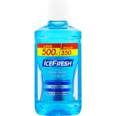 Enxaguante Bucal Antisséptico Zero Álcool Blue Mint Ice Fresh Leve 500ml Pague 350ml