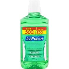 Enxaguante Bucal Antisséptico Menta Plus Ice Fresh Leve 500ml Pague 350ml