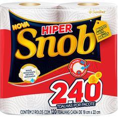 Papel Toalha Hiper Snob c/ 2un 240 Folhas