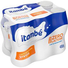Leite Fermentado Zero Lactose Sabor Baunilha Itambé 450g