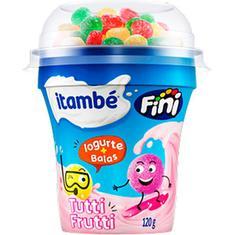 Iogurte Fini Sabor Tutti Frutti com Balas Itambé 120g