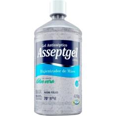 Álcool Gel Antisséptico Asseptgel Cristal 440g
