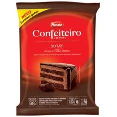Cobertura de Chocolate Meio Amargo Gotas Harald Confeiteiro 1,05Kg