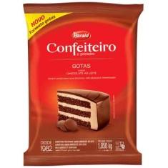 Cobertura de Chocolate ao Leite Gotas Harald Confeiteiro 1,05Kg