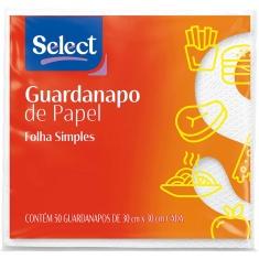 Guardanapo Folha Simples Select 30x30cm 50 Unidades