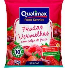 Refresco em Pó Sabor Frutas Vermelhas Qualimax 1kg