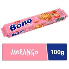 Biscoito Recheio Morango Bono 100g