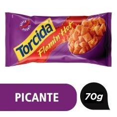 Salgadinho Flamin Hot Lucky Torcida 70g