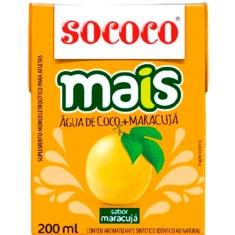 Água de Coco Mais Maracujá Sococo 200ml