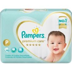 Fralda Descartável Infantil Premium Care P Pampers 40 Unidades