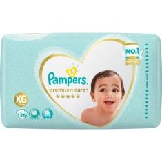 Fralda Descartável Infantil Premium Care XG Pampers 26 Unidades