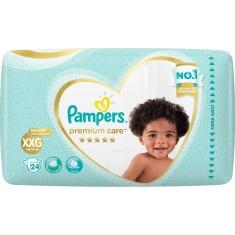 Fralda Descartável Infantil Premium Care XXG Pampers 24 Unidades