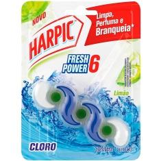 Detergente Sanitário Bloco Limão Fresh Power 6 Harpic