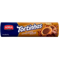 Biscoito Recheado Tortinhas Chocolate e Avelã Adria 140g