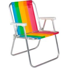 Cadeira de Praia Alta em Alumínio Bel Fix