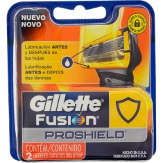 Carga para Aparelho de Barbear Fusion Proshield Gillette 2 Unidades
