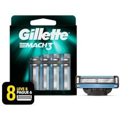Carga para Aparelho de Barbear Mach3 Gillette Leve 8 Pague 6