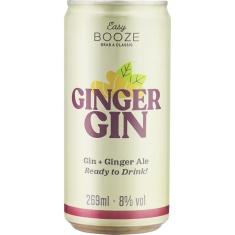 Bebida Mista Alcoólica Gaseificada Gin + Ginger Ale Easy Booze 269ml
