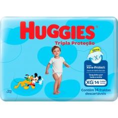Fraldas Tripla Proteção Jumbo XG Huggies 14un.