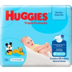 Fraldas Tripla Proteção Jumbo P Huggies 24un.