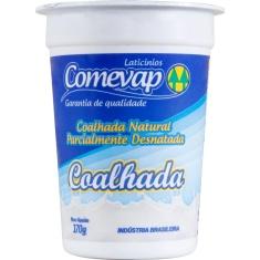 Iogurte Coalhada Natural Parcialmente Desnatado Comevap 170g