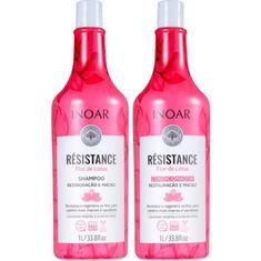 Kit Shampoo + Condicionador Résistance Flor de Lotus Inoar 1L