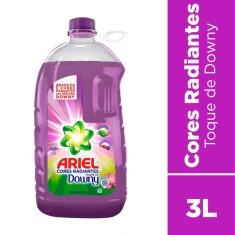 Lava Roupas Líquido Cores Radiantes Toque de Downy Ariel 3L