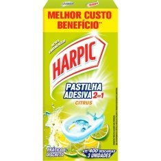 Pastilha Adesiva Citrus Harpic 2 em 1 9g